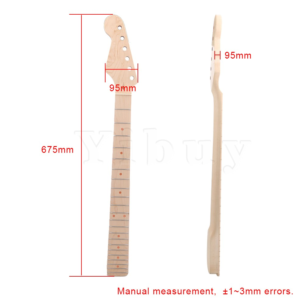 Yibuy 675 x 95mm Wood Color 6 string 22 Frets Maple Fingerboard Left Handed Electric Guitar Neck humtto women s leather outdoor hiking trekking sneakers shoes for women purple sports climbing mountain shoes woman sneaker