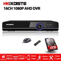 Главная видеонаблюдения 16ch DVR HD AHD 1080 P 960 P 720 P Безопасности, видеонаблюдения DVR HDMI 1080 P 16 канал автономный Wi Fi AHD DVR NVR