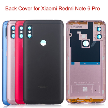 Original Battery Cover per Xiaomi Redmi Note 6 Pro Global Case Replacement Parts Power Volume Buttons + Camera Lens 1