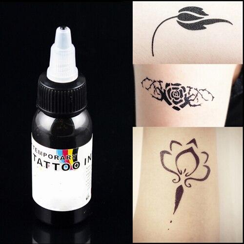 peinture noire pour tattoo airbrush encre de tatouage temporaire