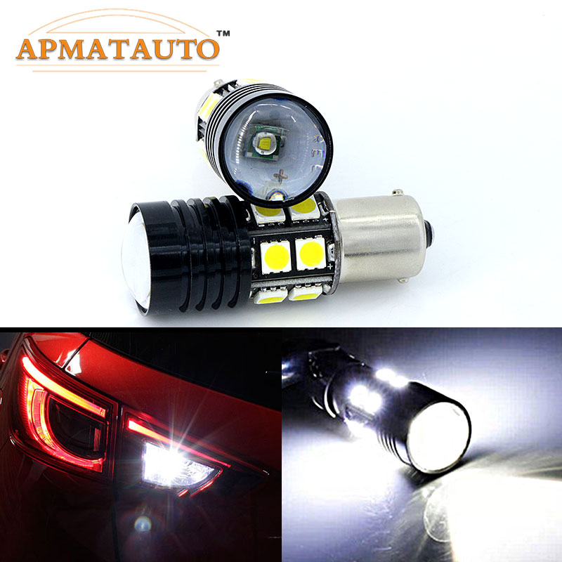 2 X 1156 P21W Q5 čipy Žádná chyba Auto LED zadní zpětná světla Zadní světlo pro Peugeot 206 207 307 308 406 407 507 508