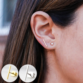 Bar Earrings Minimal Earrings Minimalist Earrings Line Stud Earrings ER112.jpg 350x350 - Bar Earrings / Minimal Earrings / Minimalist Earrings / Line Stud Earrings ER112