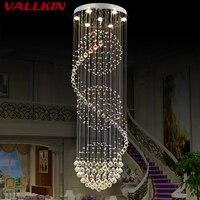 Современные светодиодные спираль хрустальная люстра Освещение для фойе лестницы лестница Спальня отель hallceiling подвеска Люстры лампа