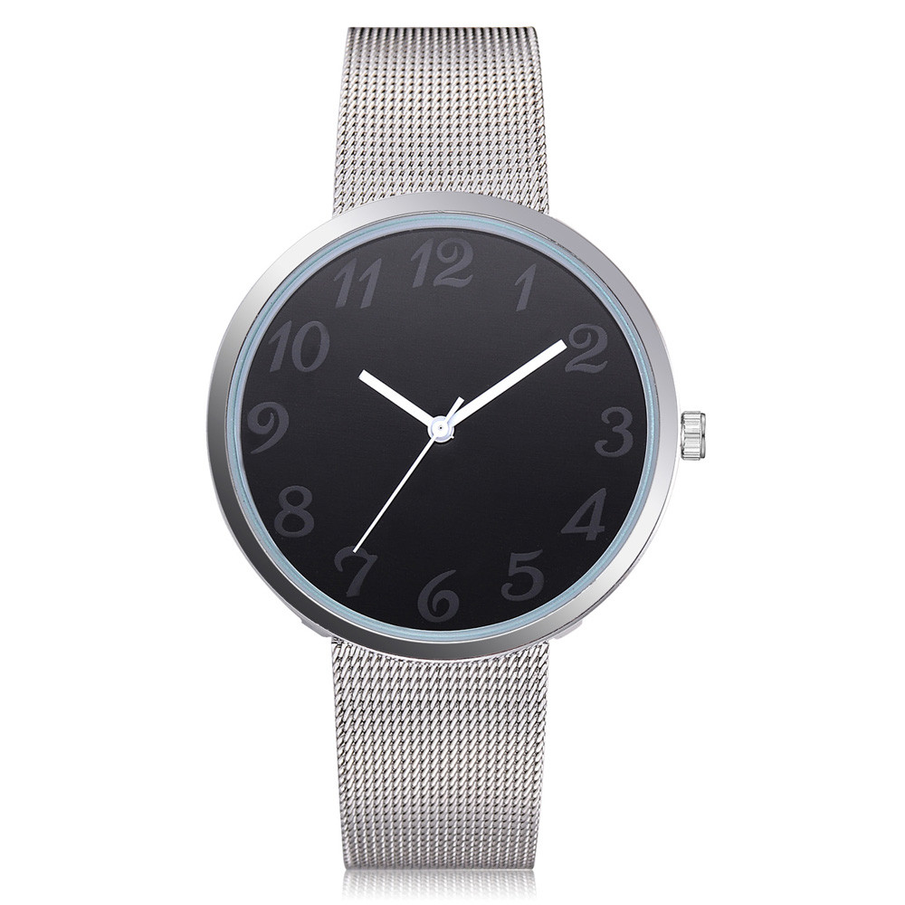 Popular brand Women's Casual Quartz Mesh Belt Watch Analog Wrist Watch bracelet simple minimalist lover 's watch reloj mujer
