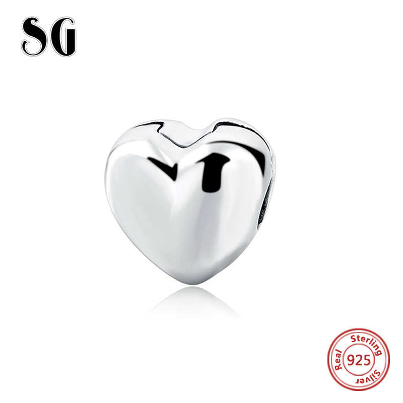 5ddbdd292 SG Fit European 925 Original personalized European Safe Clip Charm  Bracelets Antique Beads love hearts Jewelry