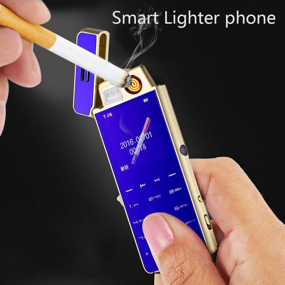 2018 Ultra-mince mini téléphone en métal allume-cigare personnalité petit téléphone Mobile positionnement anti-perte