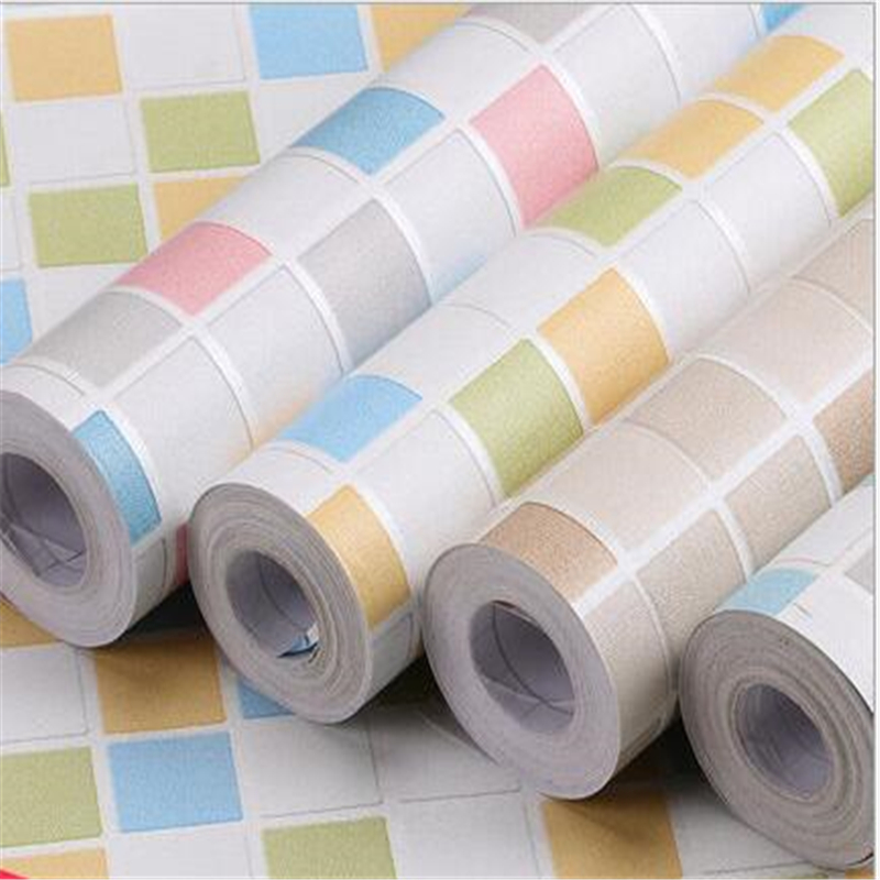 beibehang PVC thick waterproof moisture mosaic kitchen bedroom bathroom student dormitory self-adhesive wallpaper decoration mc 7806 digital moisture analyzer price with pin type cotton paper building tobacco moisture meter