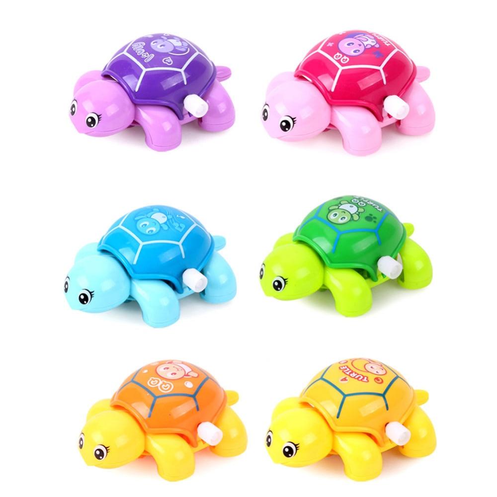 1pc Mini Clockwork Tortoise Toy  Children Plastic Cute Little Animal Turtle Wind Up Toys Kids Educatinal Toys Random Color