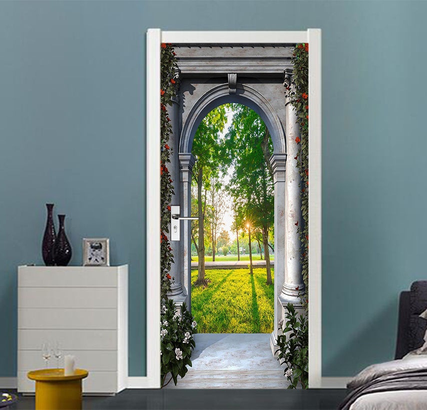 Free Shipping Home Decorators: Free Shipping HOT Arch Scenery Door Wall Stickers DIY