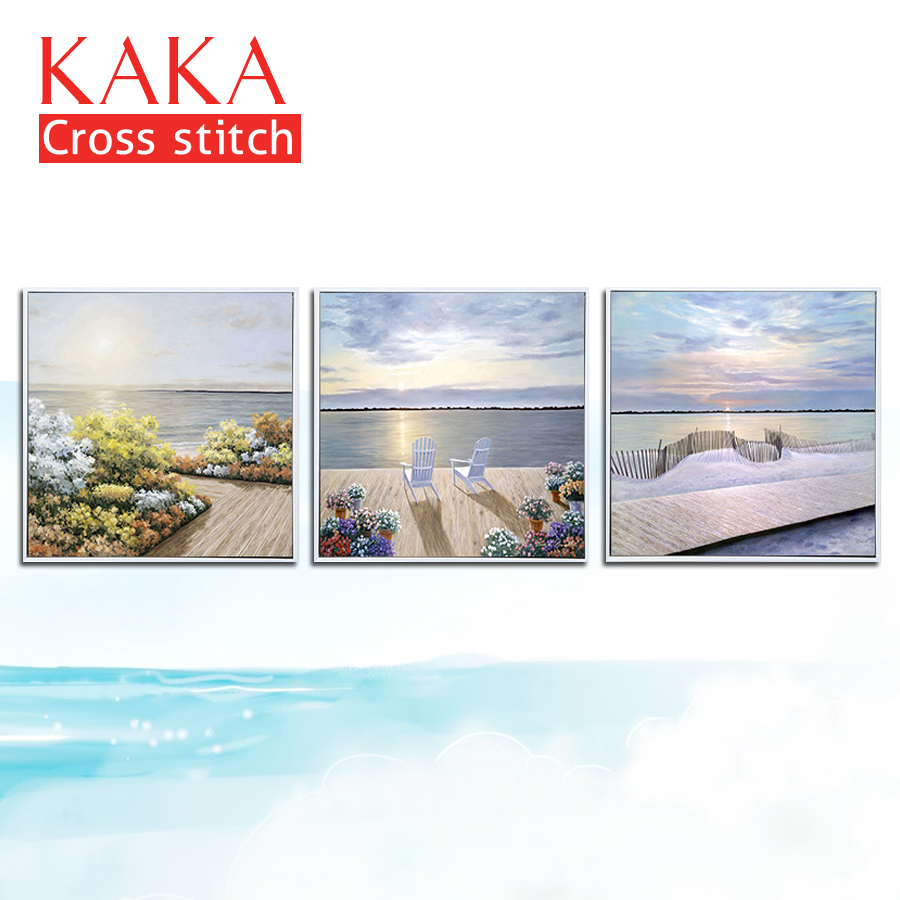 KAKA Cross stitch kits Embroidery needlework sets with printed pattern 11CT 5D canvas for Home Decor