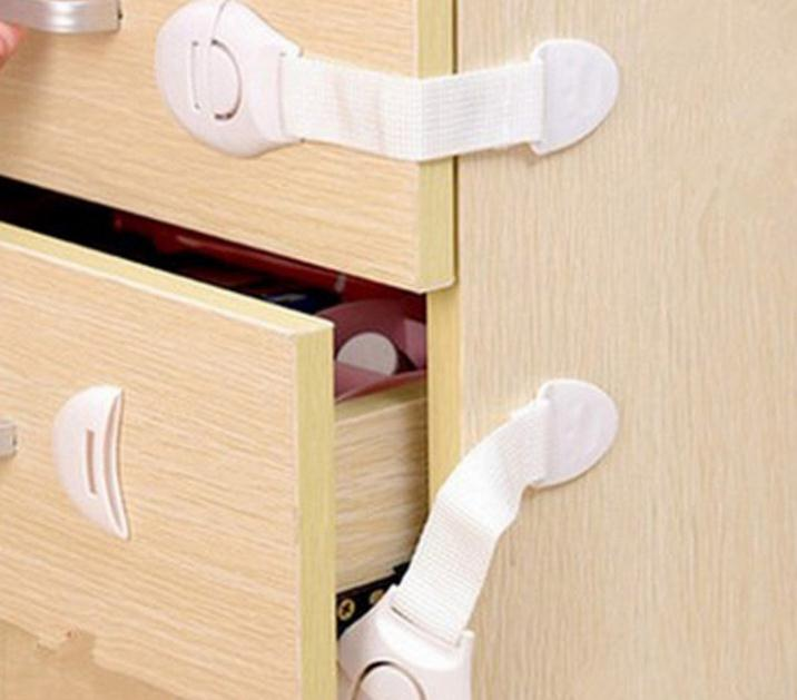 1500pcs/lot Cabinet Door Drawers Refrigerator Toilet Safety Plastic Lock For Child Kid baby safety SN1665