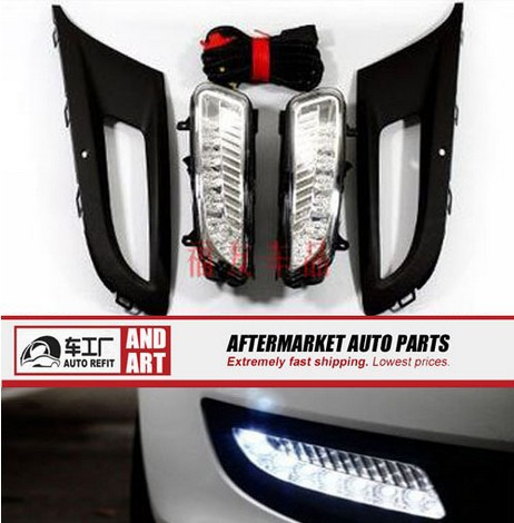 High quality Daytime running lights LED Car DRL for 2011 Volkswagen vw Polo Hatchback,fog light,car light source,car accessories hot sale abs chromed front behind fog lamp cover 2pcs set car accessories for volkswagen vw tiguan 2010 2011 2012 2013