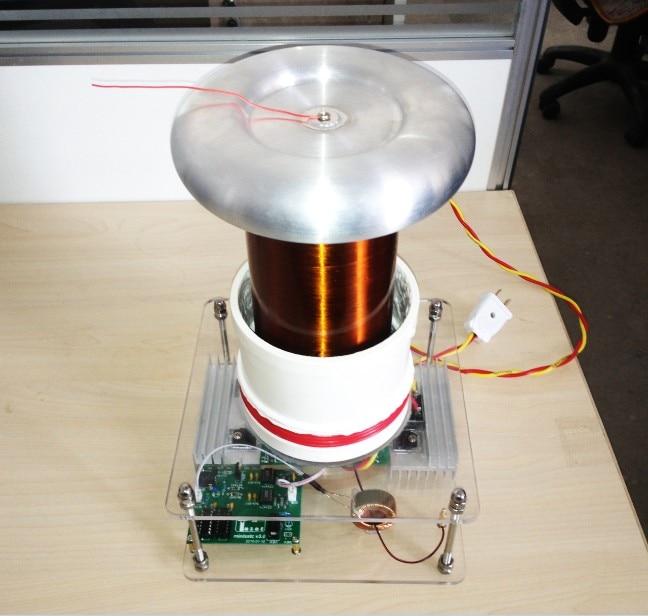 2017 solid Tesla music Tesla coil small artificial lightning