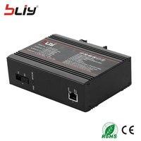 Бесплатная доставка 10/100/1000 Мбит/с 1 пара ummanagement Промышленный Коммутатор Ethernet rj45 порт Одного Волокна SM 20 км веб Интернет переключатель