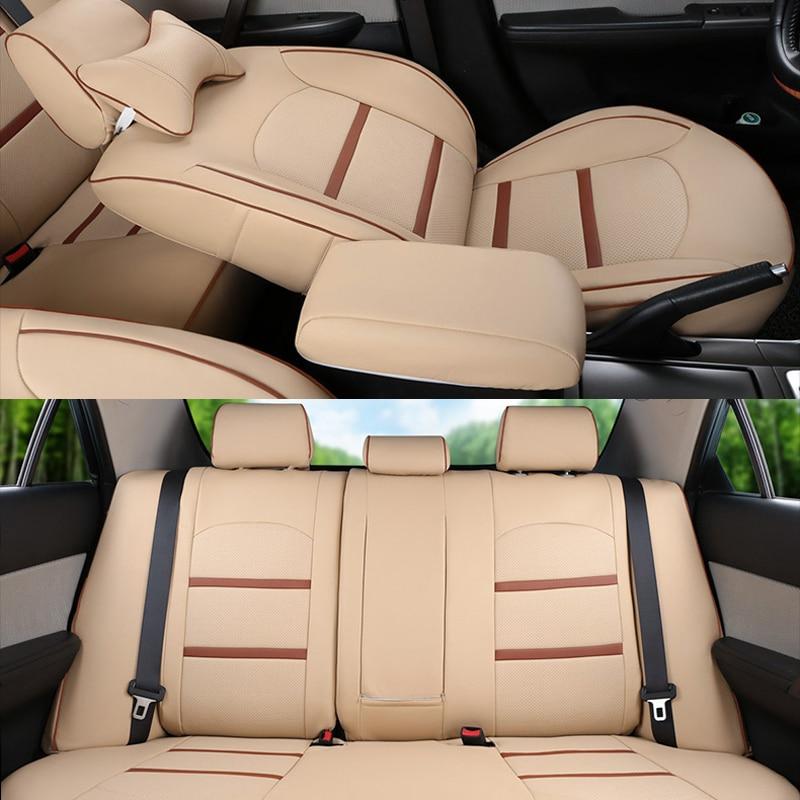 CARTAILOR PU Dəri örtüklü oturacaqlar Mitsubishi Pajero İdman - Avtomobil daxili aksesuarları - Fotoqrafiya 2