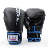 Men Black Punch Leather Kick Boxing Gloves High Quality Brand Bag Sanda MMA Muay Thai Gym