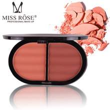 MISS ROSE Brand Makeup Natural Double Color Face Mineral Naked Blush Powder Beauty Bronzer Contour Rouge