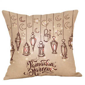 Image 2 - Eid Al Fitr Line Letter Pattern Pillowcases Cover Super soft fabric Home Cushion Throw Bedding Pillow Case Pillow Covers