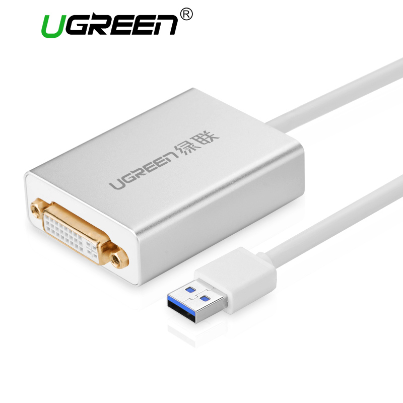 Ugreen USB 3.0 to DVI/HDMI/VGA External Mult-Display  Adapter High Premium 1066MHz  80cm  Cable Adapter Support 6 Mointors 80 channels hdmi to dvb t modulator hdmi extender over coaxial