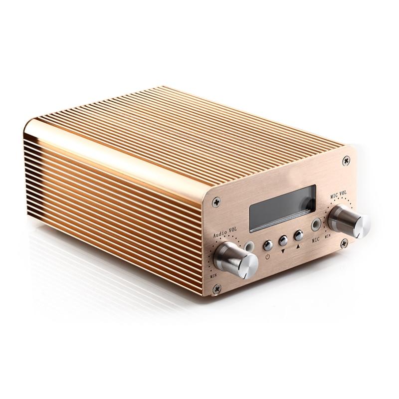 1W/6W RF Output Power Wireless FM Audio Equipment transmitter Adjustable with Bluetooth free shipping nio t6a 1w 6w rf power radio fm broadcast equipment 76mhz to 108mhz adjustable