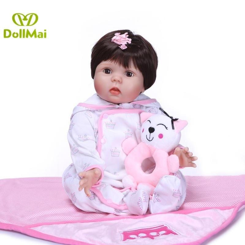 Baby reborn fashion doll gift 22 55cm silicone reborn baby dolls alive child DIY bebe doll