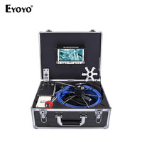 Eyoyo EP7D1 23mm 35M 7 Color TFT LCD Sewer Waterproof Camera With Meter Counter Drain Pipe Inspection 12pcs Led 1000TV