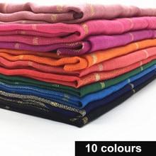 Hot sale solid fashion fringe grid hijab maxi shawls women scarves muslim head scarf wraps 10pcs/lot fast shipping