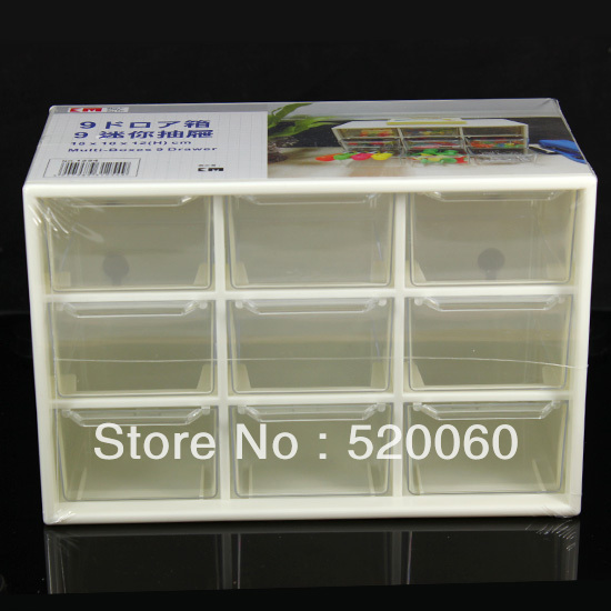 1 Empty Desktop Drawer 9 Cell Transparent Mini Tray Craft Jewelry  Stationery Organizer Storage Plastic Box Case Container TP180 In Storage  Boxes U0026 Bins From ...
