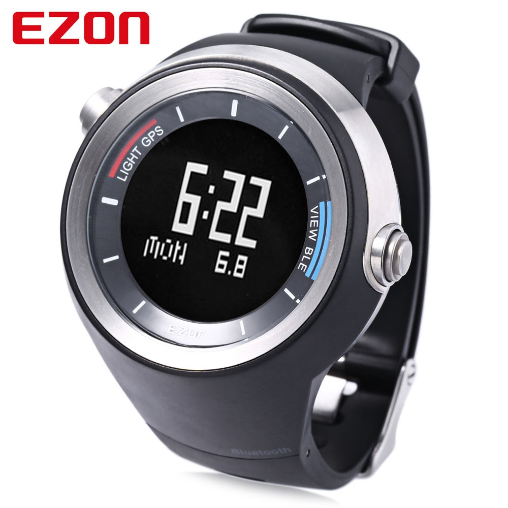 EZON G2 Male Bluetooth 4.0 Running Sports Smart Watch GPS Receiver Pedometer Temperature Sedentary Wristwatch ezon gps hrm heart rate monitor sports hiking training fitness watch calories pedometer bluetooth 4 0 smart sports watch t033