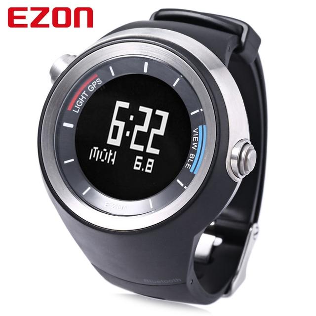 Ezon g2 hombre smart watch receptor gps bluetooth 4.0 deportes running podómetro sedentaria de temperatura reloj