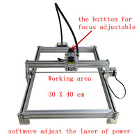 1000mw laser engraving machine working area 30*40cm laser engraver laser cutting machine for a toy to friend|Woodworking Machinery Parts|Tools -