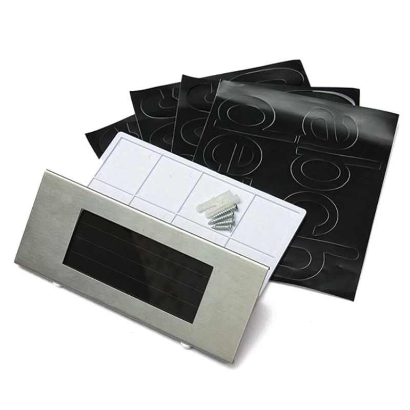 Мода Открытый 4 светодиодный солнечный дверной светильник номер дома адрес знак для двери Дом Сад вечерние декоративные