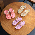 girls sandals summer kids shoes 2017 New children Flip sandals Girls shining diamond princess fashion shoes Flat beach sandals
