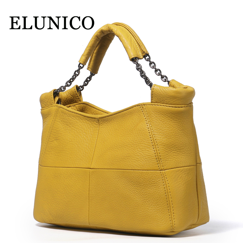 ELUNICO High Quality Genuine Leather Women Handbags Luxury Handbags Women Bags Designer Tote Bag Plaid Messenger Shoulder Bag genuine leather handbags 2018 luxury handbags women bags designer women s handbags shoulder bag messenger bag cowhide tote bag