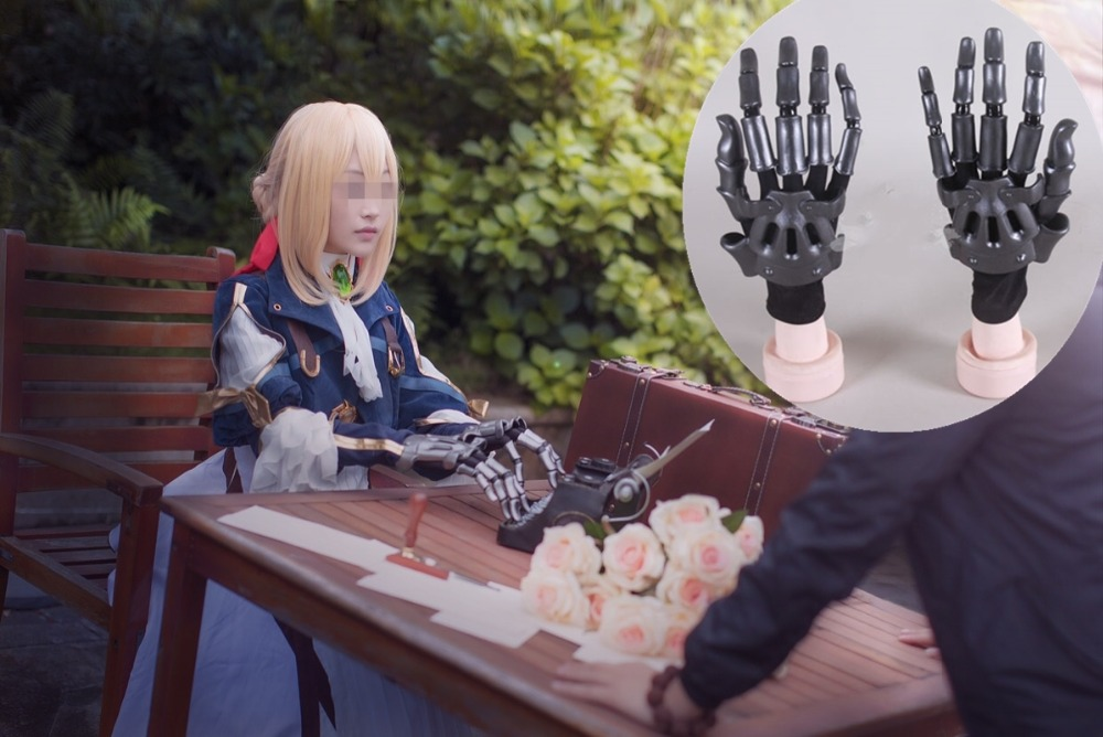New Anime Violet Evergarden Cosplay Movable ABS Plastic Machine Hand Auto Memories Doll Figure Hand Halloween Cosplay Props