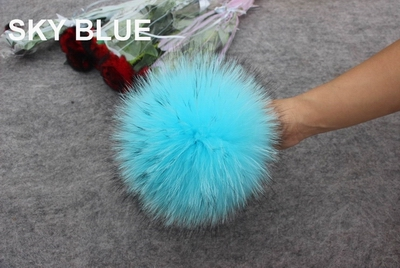 Image 3 - 2018 Wholesale 15pcs/lot Real Raccoon Fur Pompom Genuine Fur Pom poms For Women Kids Winter Hat Skullies Beanie Hat DIY Pompoms-in Men's Skullies & Beanies from Apparel Accessories