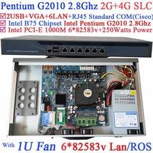 6*1000 М 82583 В Lan PFSense Wayos ROS Сетевой маршрутизатор с Pentium G2010 Двухъядерный 2.8 ГГц
