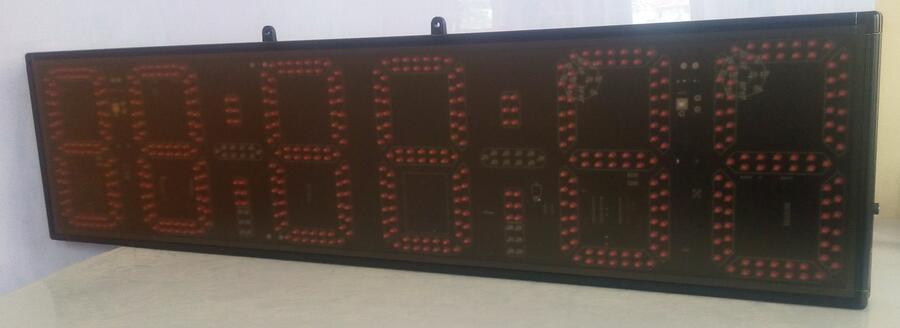 8 նիշ կարմիր ժամ, րոպե և վայրկյան LED - Տնային դեկոր - Լուսանկար 5