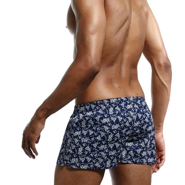 Men's Floral Pattern Cotton Boxers