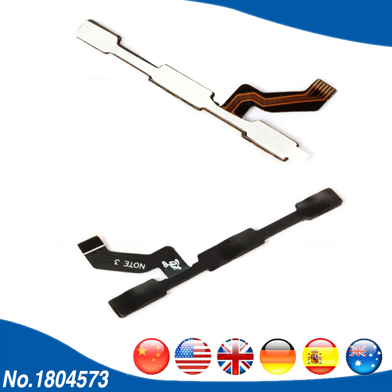 10PCS/Lot For Xiaomi Redmi Note 3 Pro Volume Power Switch On Off Button key Flex Cable For Xiaomi Redmi Note 3