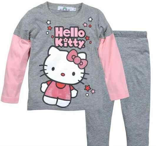 2-7 лет комплекты детских пижам с героями мультфильмов хлопок Длинные  рукава комплект одежды весна 05bfa634c5335