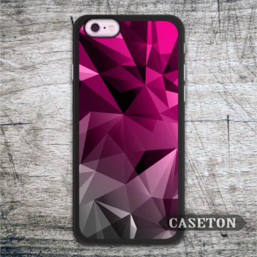 Purple Gray Geometric Case For iPhone 7 6 6s Plus 5 5s SE 5c 4 4s and For iPod 5 Lovely Protective Cover Free Shipping