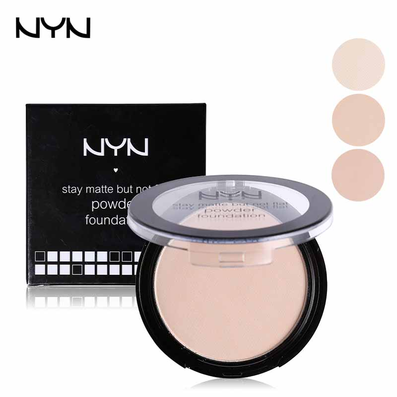 NYN Professional Powder Foundation Waterproof Oil-free Pressed Powder Base Cosmetics Concealer Contour Palette Mineral Makeup