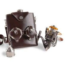 Mealivos angeln glaskolben set portable 18 unze lebensmittelecht Edelstahl Flachmann mit 1 stücke angelrolle trichter freies
