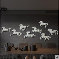 Horse crafts, beautiful wall stickers, home office restaurant wall decorations
