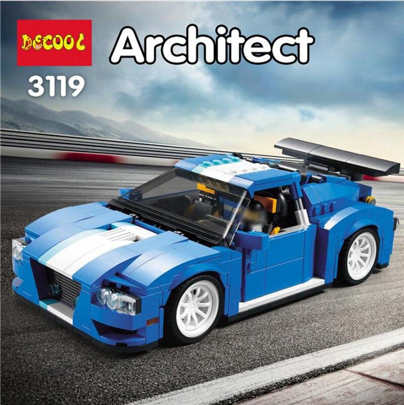 3 In 1 Decool 3119 Creator Turbo Track Racer Car Building Blocks