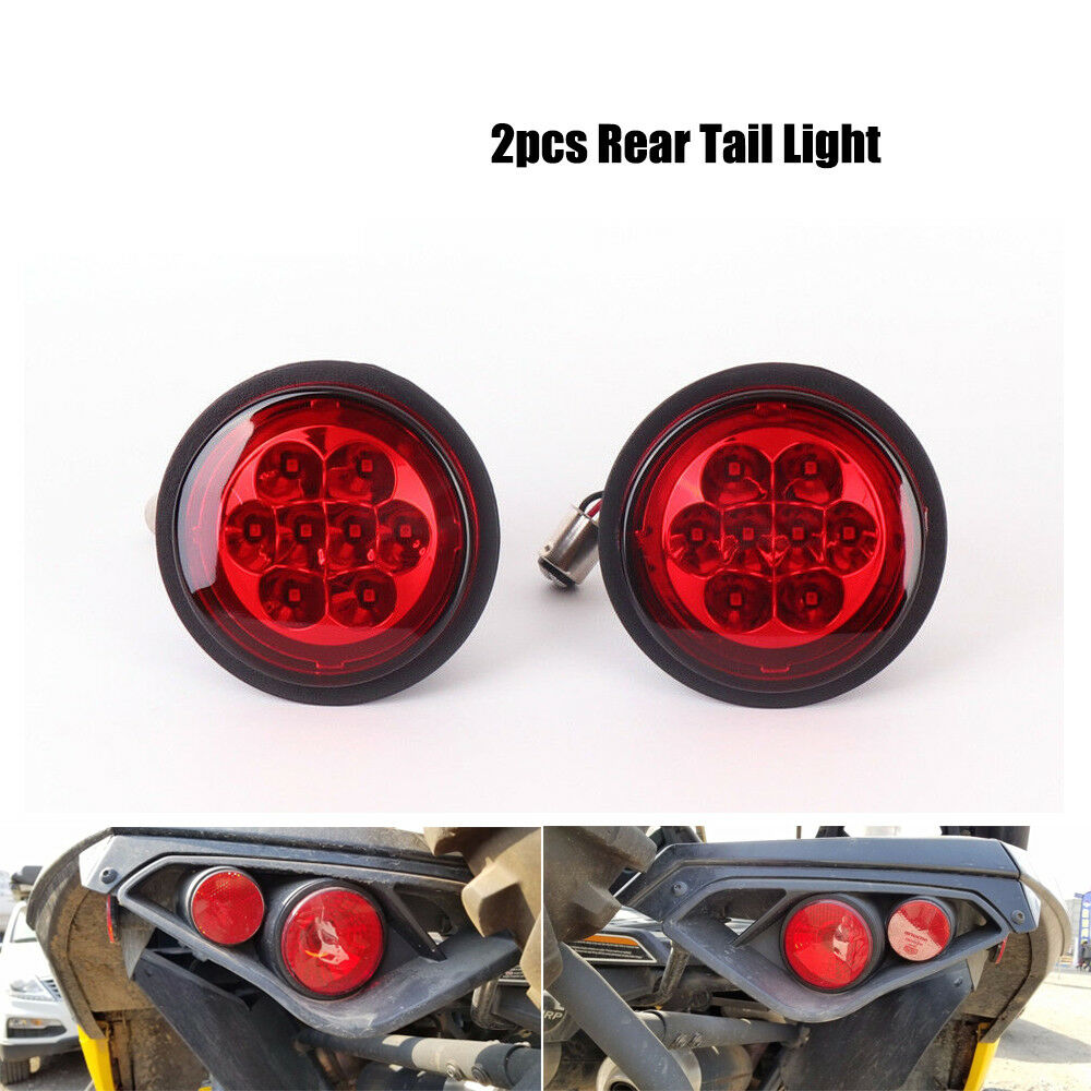 ATV UTV 2PCS Rear Taillight Lens for Can Am Outlander Renegade Commander Maverick 2011 2017 2015