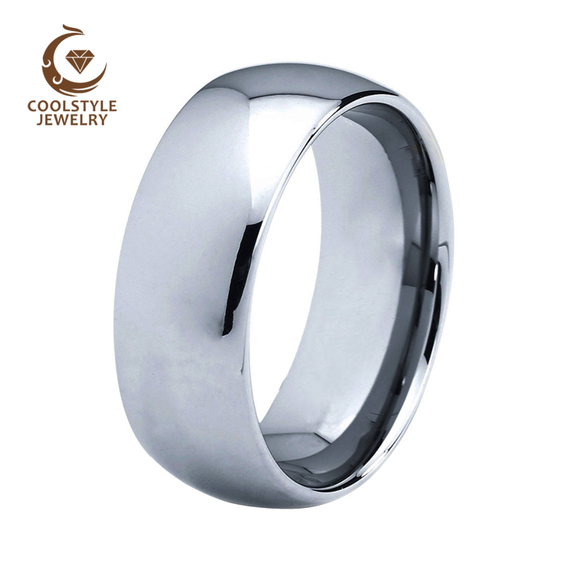 8MM Tungsten carbide Ring Wedding Band For Men And Women Classic Plain Band With Shiny polished comfort fit