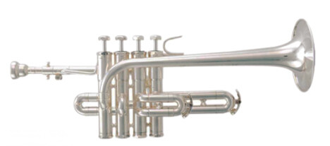Bb Piccolo Trumpet in Silver plated Brass Body with case Musical instruments Bb Trompete professional