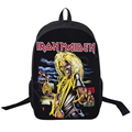 Band Iron Maiden Backpack Metallica Punk Backpack Men Women Guns N' Roses Street Rock Backpacks For Teenage Hip Hop School Bags